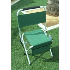 HEAVY DUTY OASIS Folding Aluminum Chair w/ STORAGE POCKETS