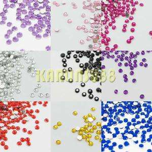 Art Rhinestones Gem Nail Art Decoration Glitter Hot Fix Flatback 20000