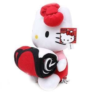 Sanrio Hello Kitty Large Plush and Fleece Throw Bed Blanket 2 pieces