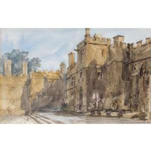 Reproduction   David Cox   24 x 24 inches   The Courtyard, Haddon Hall