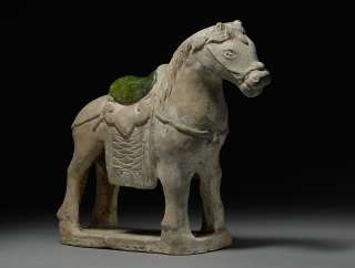 Ancient Chinese Ming Dynasty Horse Statue Pottery Figure