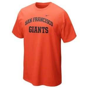 San Francisco Giants Orange Nike 2012 Arch T Shirt Sports