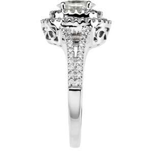 00 CARAT MOISSANITE ENGAGEMENT RING WITH DIAMONDS WOW