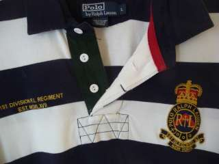 Ralph Lauren Polo Mens Rugby Shirt L Large coat of arms