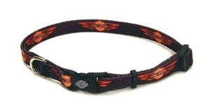 Harley Davidson 3/8 Black w/ Logo 8 12 Dog Collar