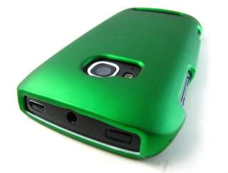 GREEN RUBBERIZED HARD SHELL CASE COVER NOKIA LUMIA 710 TMOBILE PHONE