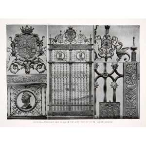 Print Wrought Iron Gate Work Ayuntamiento Granada Spain Decorative