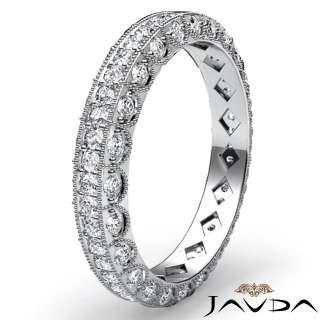 ct Round New Diamond Wedding LadiesEternity Band 14k White Gold sz5