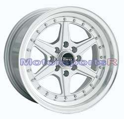 15 15x8 XXR 501Silver Rims Deep Dish Step Lip Wheels Stance 4x100