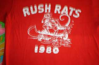 RUSH RATS 1980 VINTAGE T SHIRT PUNK ROCK ROCK N ROLL TE