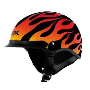 AFX FX 3 Beanie Flame Half Helmet Medium  Black