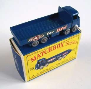 MATCHBOX LESNEY 20 ERF EVER READY TRUCK, grey wheels, 1962, MIB