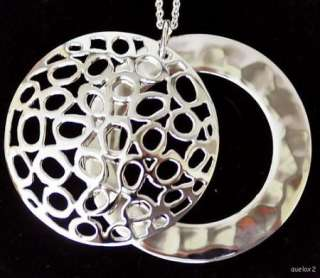 New ROBERT LEE MORRIS Lace Disk Pendant Necklace 36