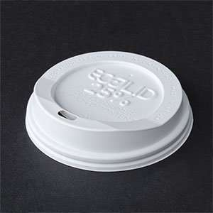 oz. Eco Products Recycled Content Hot Paper Cup Lid   White 1000 / CS