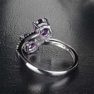 STONE SOLID 14K WHITE GOLD Pave DIAMOND ENGAGEMENT Wedding RING