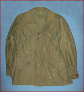 OLD VTG WWII M 43 1943 US ARMY MILITARY FIELD JACKET COAT EARLY