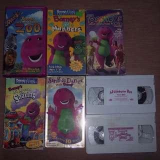 Lot 7 Barney Barneys Purple Dinosaur VHS Video Tapes Movies Sing