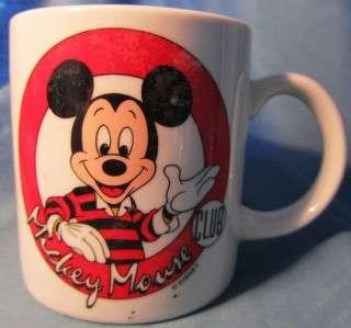 Disney Mickey Mouse Club Coffee Cocoa Mug PROMO Collect