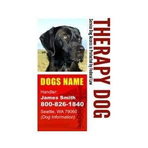 THERAPY DOG ID Badge   1 Dogs Custom ID Badge   Design#3