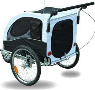 2IN1 Double Pet Bike Trailer Bicycle Dog Stroller Cat Carrier W