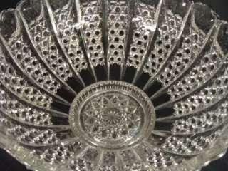 HUGE American Brilliant ANTIQUE Cut Glass Crystal PUNCH BOWL 14 Circa