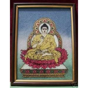 Lord Buddha, Painting made with Gem Stones, Handicraft