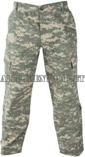 USGI Military Army PANTS / BOTTOMS BDU ACU Digital Camo 50/50 Rip Stop