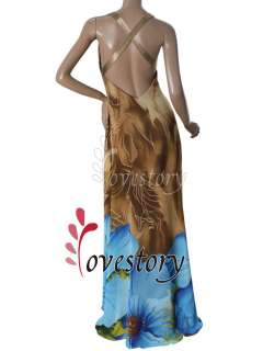 Padded Sequin Cross Back Trailing Chiffon Browns Long Prom Gown 09651