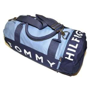 Tommy Hilfiger Big Logo Duffle Bag (Navy/grey): Clothing