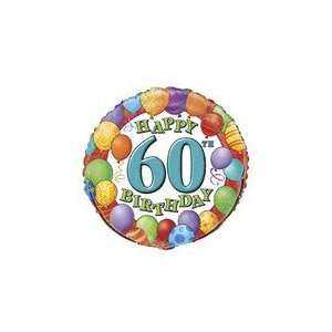 18 Happy 60th Birthday Balloons   Mylar Balloon Foil