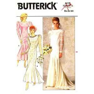 Butterick 4415 Sewing Pattern Brides Wedding Dress Gown