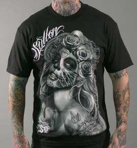 13 Felon Hardnox Tattoo Apparel Mens Tee Querida Muerte 2X
