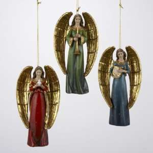 New   Pack of 6 Angel Christmas Ornaments with Musical