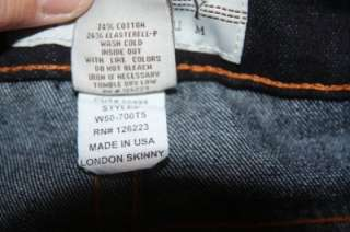 209 New Womens PRVCY Privacy London Skinny Dark Blue Denim Jeans sz