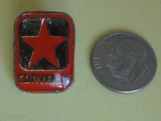 CONVERSE Shoes Vtg Enamel Metal Promo Pin Badge Star CT