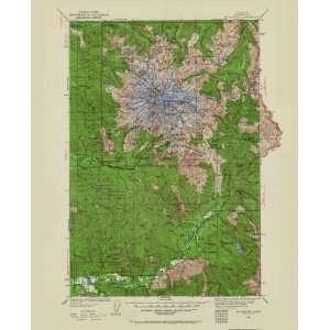 USGS TOPO MAP MT. RAINIER QUAD WASHINGTON (WA) 1924