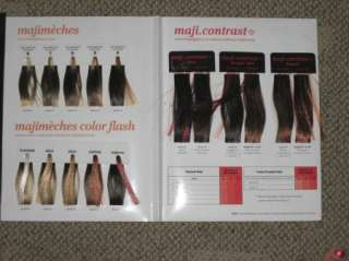 OREAL Professionnel MAJIMECHES Maji Contrast Hair Color Swatch Book