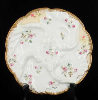 ANTIQUE CFH HAVILAND LIMOGES WAVE OYSTER PLATE PRETTY