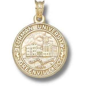 Furman Paladins Solid 10K Gold Classic Seal Pendant