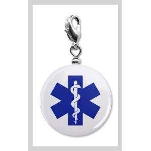 Blue EMT EMERGENCY MEDICAL TECHNICIAN Symbol Fire Rescue Heroes 1 inch