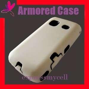 WHITE Impact Armor Case Cover 4 Straight Talk SAMSUNG GALAXY PRECEDENT