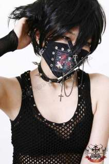 GOTHIC DOLL JAPAN Punk EMO Makeup CHAOS 2/3 FACE MASK I