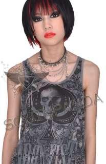 SW300 Black Punk Rock Snake Skin Pattern EMO Necklace