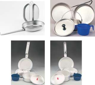 Military Type Portable Indoor/Outdoor Cookwear MESS KIT