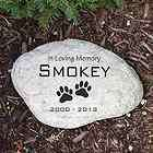 Engraved In Loving Memory Pet Memorial Garden Stone Personalize W/Name