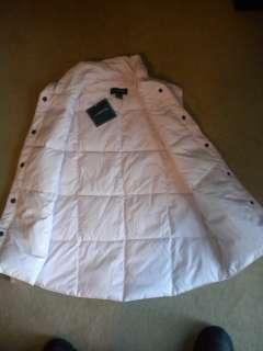 New LANDS END Women's Pink Goose Down Vest Jacket Coat Sz Small NWT