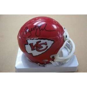 Priest Holmes Autographed / Signed Mini Helmet