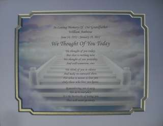 WE THOUGHT OF YOU TODAY MEMORIAL POEM IN LOVING MEMORY OF LOVED ONE