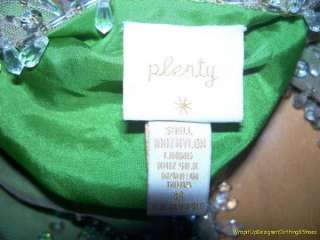 Plenty by Tracy Reese Cropped Jacket 8 Green Beaded WOW