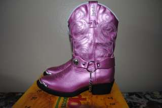 NEW** Girls Sz 11 Cowboy Boots COWGIRL PINK Pearl LAREDO Quality
